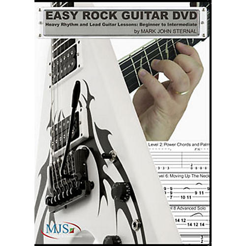 MJS Music Publications Easy Rock Guitar DVD: Heavy Rhythm and Lead Guitar Lessons: Beginner to Intermediate-thumbnail