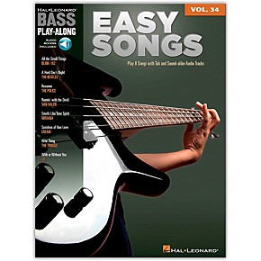 hal leonard easy songs bass play along volume 34 book cd guitar center. Black Bedroom Furniture Sets. Home Design Ideas
