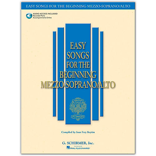G. Schirmer Easy Songs for The Beginning Mezzo-Soprano / Alto Book/CD-thumbnail