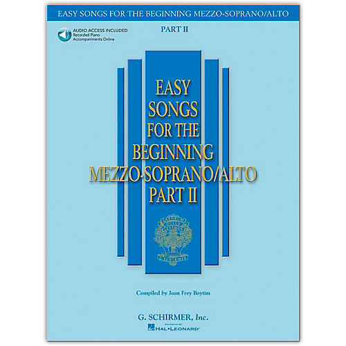 G. Schirmer Easy Songs for The Beginning Mezzo-Soprano / Alto Part II Book/Online Audio-thumbnail