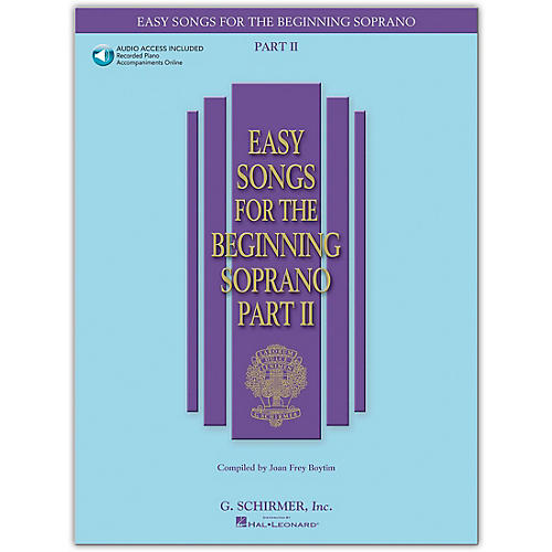 G. Schirmer Easy Songs for The Beginning Soprano Part II Book/Online Audio