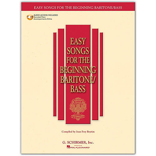 G. Schirmer Easy Songs for The Beginning for Baritone / Bass Book/Online Audio