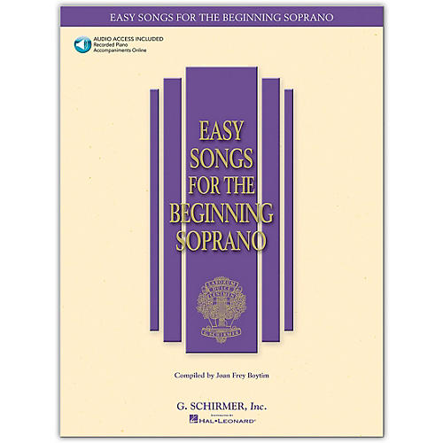 G. Schirmer Easy Songs for The Beginning for Soprano Book/Online Audio-thumbnail