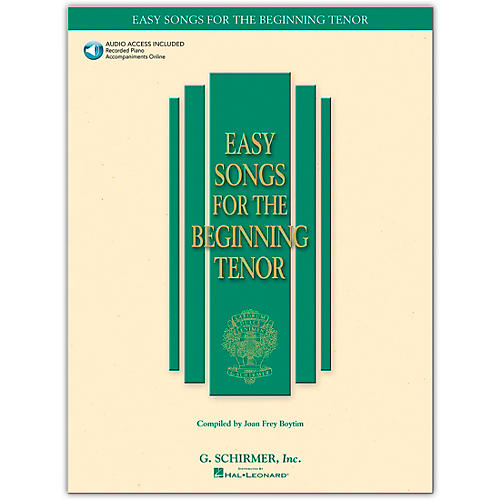 G. Schirmer Easy Songs for The Beginning for Tenor Voice Book/CD-thumbnail