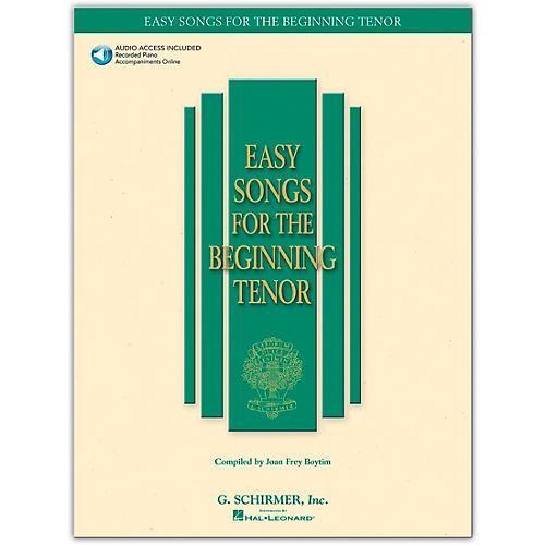 G. Schirmer Easy Songs for The Beginning for Tenor Voice Book/Online Audio