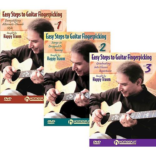 Homespun Easy Steps To Guitar Fingerpicking 1,2&3 (DVD)-thumbnail