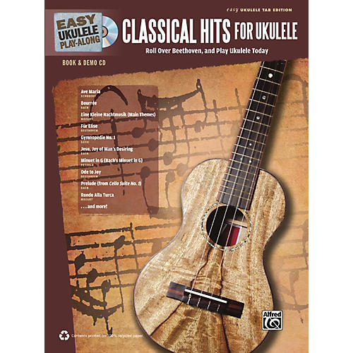 Alfred Easy Ukulele Play-Along Classical Hits for Ukulele Book & CD