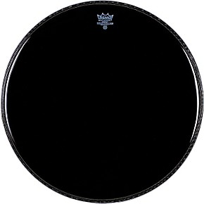 remo ebony powerstroke 3 resonant bass drum head 20 in guitar center. Black Bedroom Furniture Sets. Home Design Ideas