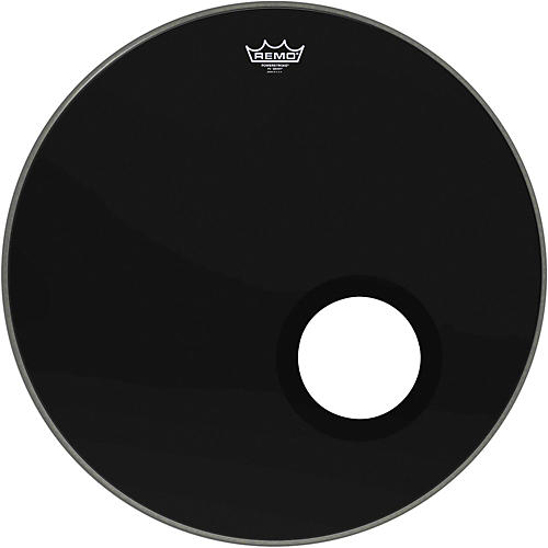remo ebony powerstroke 3 resonant bass drum head with 5 port hole ebony 24 in guitar center. Black Bedroom Furniture Sets. Home Design Ideas