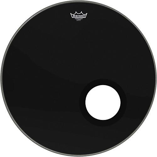 Remo Ebony Powerstroke 3 Resonant Bass Drum Head with 5 Port Hole Ebony 24 in.
