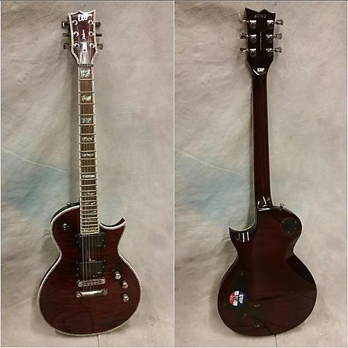 ESP Ec1000 Solid Body Electric Guitar Trans Red