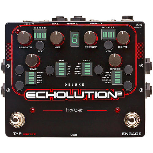 Pigtronix Echolution 2 Deluxe Guitar Effects Pedal-thumbnail