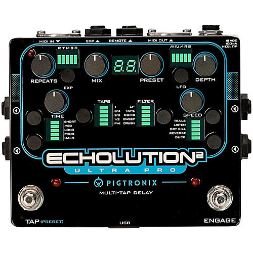 Pigtronix Echolution 2 Ultra Pro Guitar Pedal-thumbnail