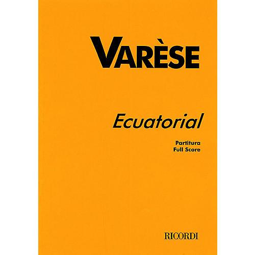 Ricordi Ecuatorial (Full Score) Study Score Series Composed by Edgard Varèse