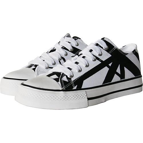 EVH Eddie Van Halen Low Top Sneakers - White with Black Stripes-thumbnail