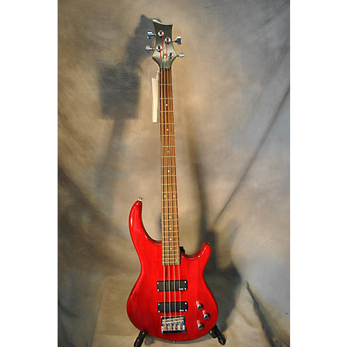 Dean Edge 1 4 String Candy Apple Red Electric Bass Guitar