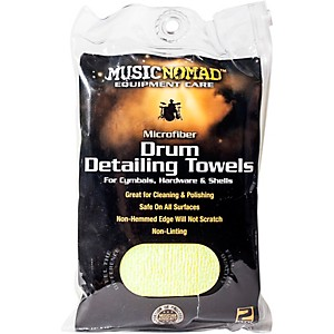Music Nomad Edgeless Microfiber Drum Detailing Towels - 2 pack by Music Nomad
