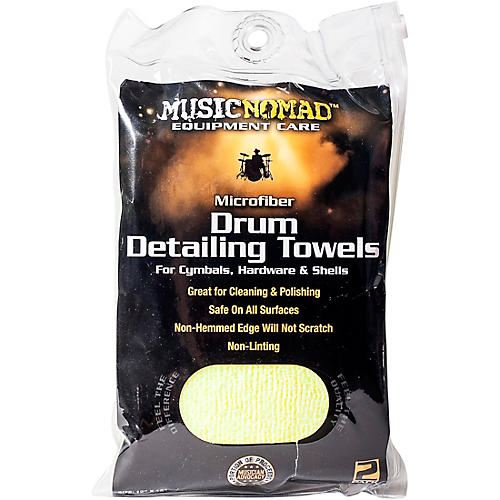 Music Nomad Edgeless Microfiber Drum Detailing Towels - 2 pack-thumbnail