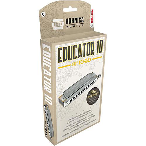 Hohner Educator 10 Chromatic Harmonica-thumbnail