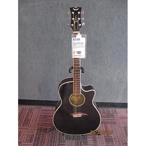 Dean Efmtbk Trans Black Acoustic Electric Guitar-thumbnail