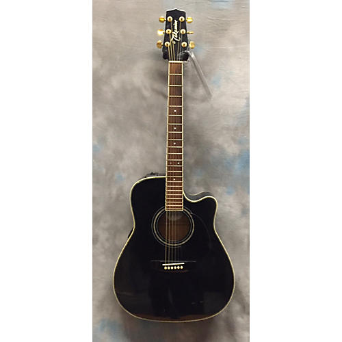 Takamine Eg334bk Black Acoustic Electric Guitar