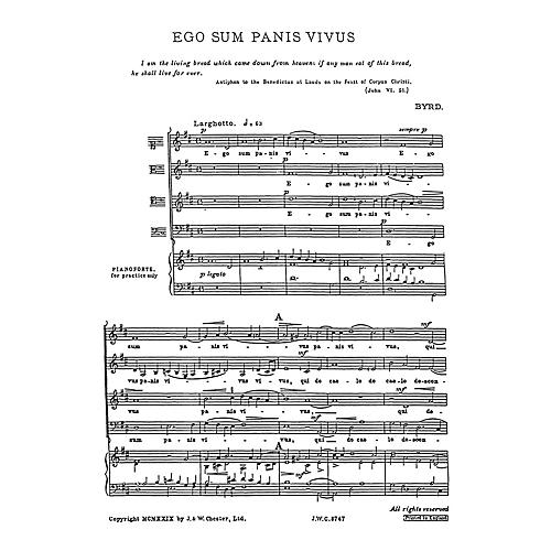 Chester Music Ego sum panis vivus SATB