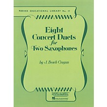 Rubank Publications Eight Concert Duets for Two Saxophones Ensemble Collection Series  by J. Beach Cragun