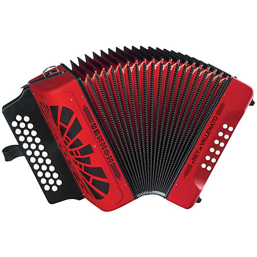 Hohner El Rey Del Vallenato GCF Accordion Red