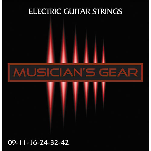 Musician's Gear Electric 9 Nickel Plated Steel Guitar Strings