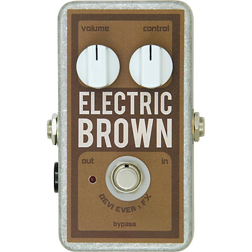 Devi Ever Electric Brown Overdrive Guitar Effects Pedal-thumbnail