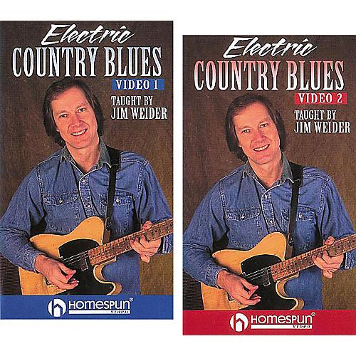 Homespun Electric Country Blues 2-Video Set (VHS)-thumbnail