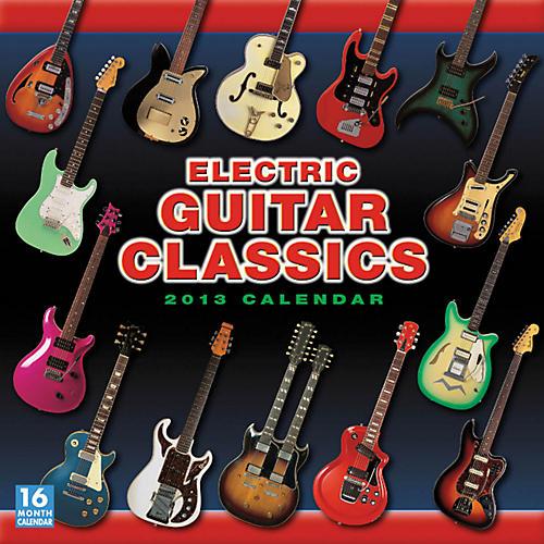 Hal Leonard Electric Guitar Classics 2013 12-Month Wall Calendar-thumbnail