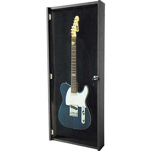 Musician's Gear Electric Guitar Display Case Black