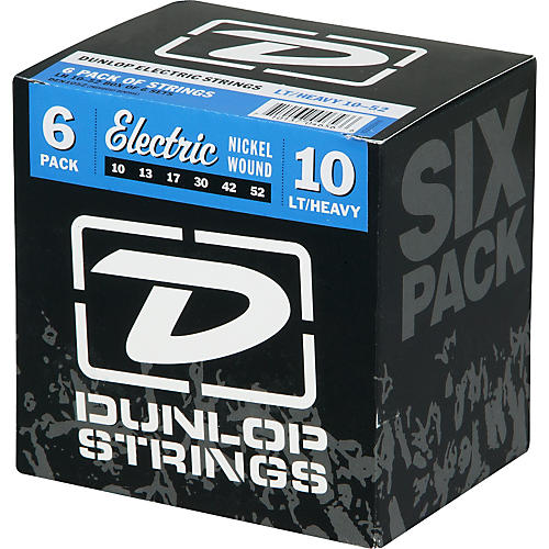 Dunlop Electric Guitar Strings Light Top Heavy Bottom 6-Pack