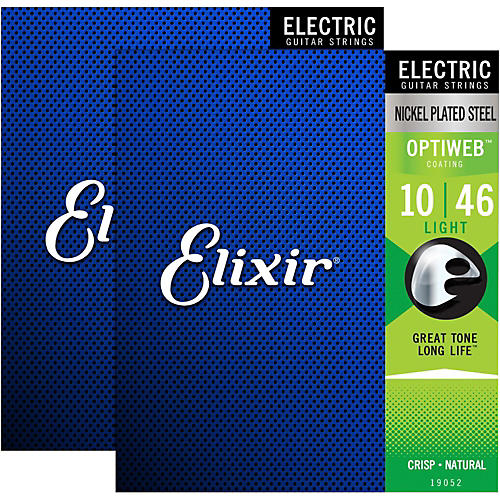 Elixir Electric Guitar Strings with OPTIWEB Coating, Light (.010-.046) - 2 Pack-thumbnail