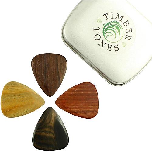 Timber Tones Electric Mixed Tin of 4 Guitar Picks-thumbnail