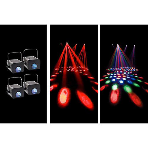Eliminator Lighting Electro 4 Pak LED Moonflower System