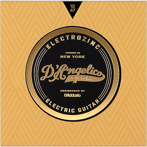 D'Angelico Electrozinc Jazz 10-47 Extra Light Electric Guitar Strings