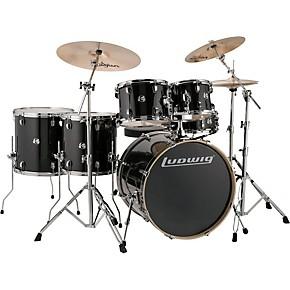 ludwig element evolution 6 piece drum set guitar center. Black Bedroom Furniture Sets. Home Design Ideas
