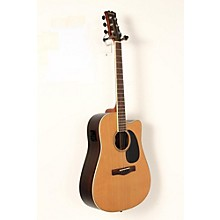 Element Series ME2CEC Dreadnought Cutaway Acoustic-Electric Guitar Level 2 Natural, Indian Rosewood back/sides, Solid Red Cedar top 190839031716
