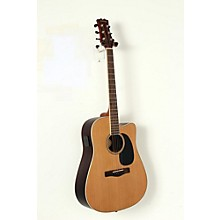 Element Series ME2CEC Dreadnought Cutaway Acoustic-Electric Guitar Level 2 Natural, Indian Rosewood back/sides, Solid Red Cedar top 190839047588