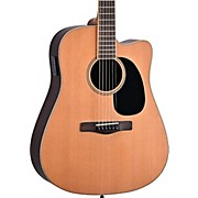 Element Series ME2CEC Dreadnought Cutaway Acoustic-Electric Guitar Natural Indian Rosewood back/sides, Solid Red Cedar top