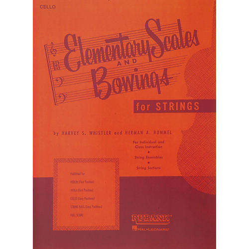 Hal Leonard Elementary Scales And Bowings - Cello-thumbnail