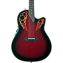 Elite 2078 AX Deep Contour Acoustic-Electric Guitar Black Cherry Burst