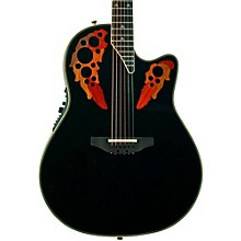 Elite 2078 AX Deep Contour Acoustic-Electric Guitar Black