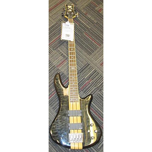 Schecter Guitar Research Elite 4 String Electric Bass Guitar Trans Brown