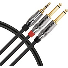 "Livewire Elite Interconnect Y-Cable 3.5 mm TRS Male to 1/4"" TS Male"