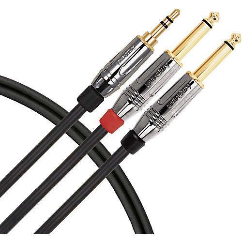 Livewire Elite Interconnect Y-Cable 3.5 mm TRS Male to 1/4
