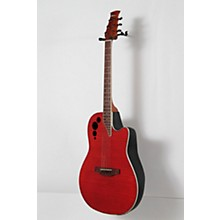 Applause Elite Series AE44IIP Acoustic-Electric Guitar Level 2 Transparent Cherry Flame 888366034286