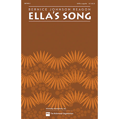 Hal Leonard Ella's Song SATB a cappella by Sweet Honey In The Rock composed by Bernice Johnson Reagon